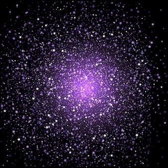 Fond de confettis étoile pourpre