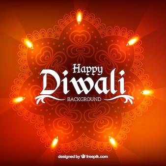 Fond de Diwali avec effet de lumières