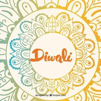 Fond de diwali coloré
