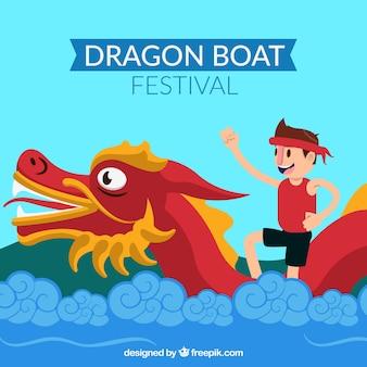 Fond de festival du bateau dragon