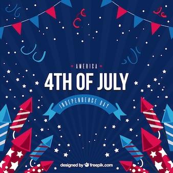 Fond de fête avec éléments décoratifs pour le jour de l'indépendance