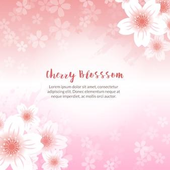 Fond de fleur de cerisier printanier