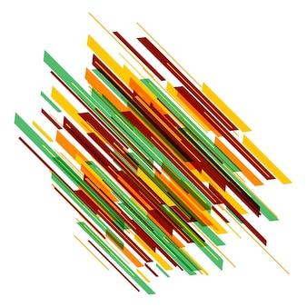 Fond de lignes colorées modernes