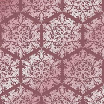Fond de motif avec design de style damassé de luxe