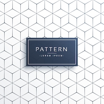 Fond de motif de ligne géométrique minimal en forme hexagonale