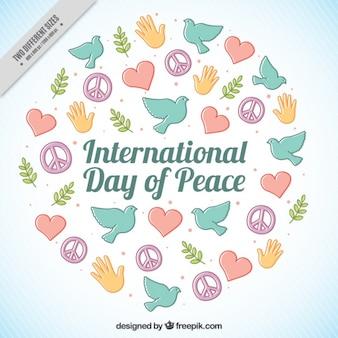 Fond de Nice pour la journée internationale de la paix
