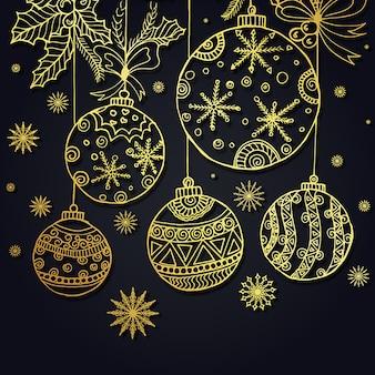 Fond de Noël dessiné à la main
