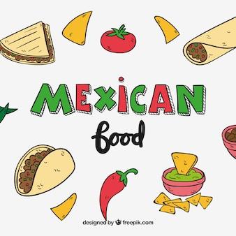 Fond de nourriture mexicaine
