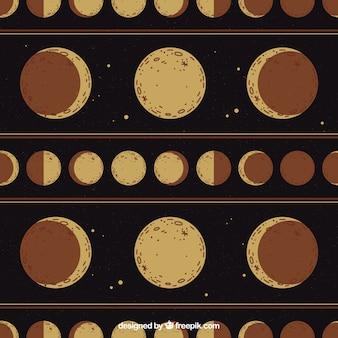 Fond de phase lunaire