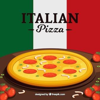 Fond de pizza italienne