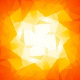 Fond de polygone lumineux moderne