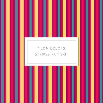 Fond de rayures de couleurs de néon