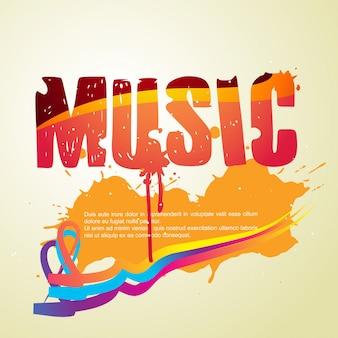 Fond de vecteur de style musique abstraite