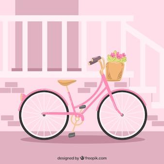 Fond de vélo rose