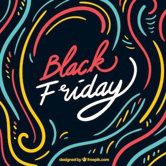 Fond de vendredi noir multicolore