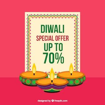 Fond de vente de Diwali