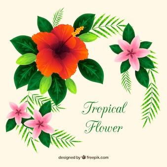 Fond décoratif d'éléments floraux
