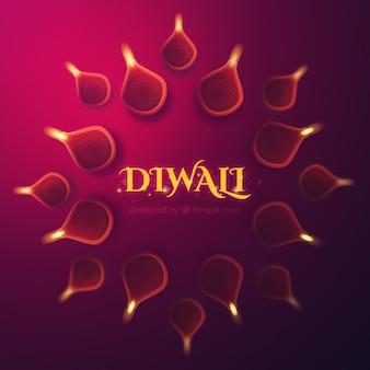 Fond décoratif de diwali