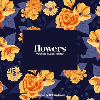 Fond élégant avec une variété de fleurs
