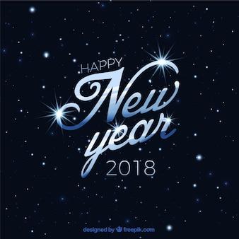 Fond élégant de la bonne année 2018 avec des étoiles