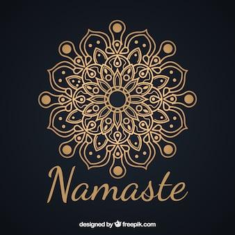 Fond élégant de namaste avec mandala
