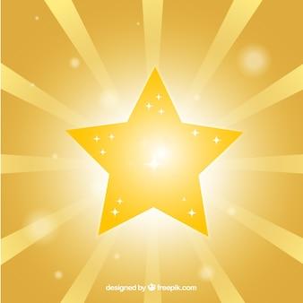 Fond étoile dorée brillante