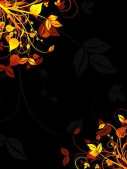 Fond floral aux couleurs d'automne