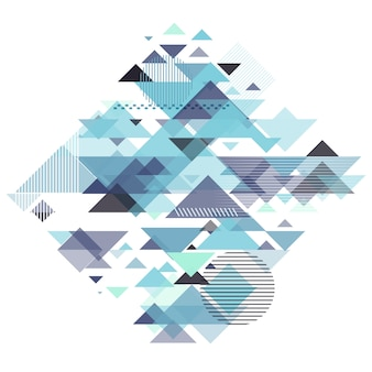 Fond géométrique abstrait avec un design rétro