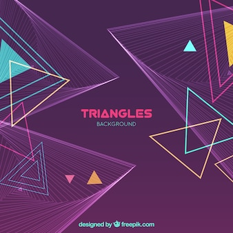Fond géométrique moderne avec des triangles