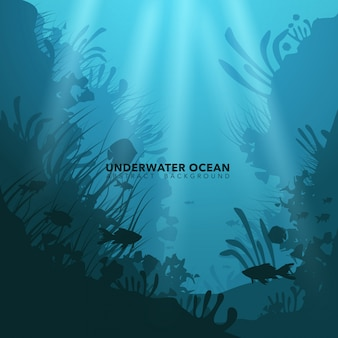 Fond marin sous-marin