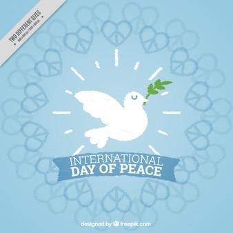 Fond mignon journée internationale de la paix