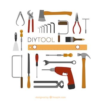 Fond mignon sur les outils de menuiserie