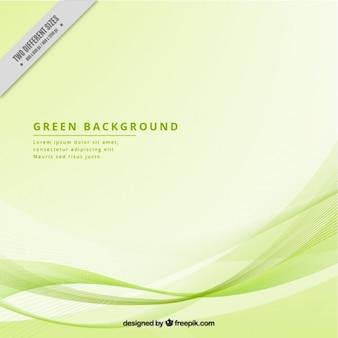 Fond moderne avec des vagues vertes