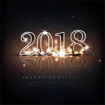 Fond moderne de la nouvelle année 2018