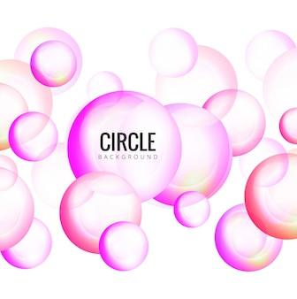 Fond moderne des cercles brillants