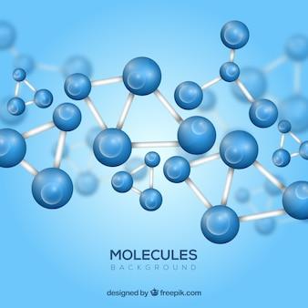 Fond Moléculaire avec style réaliste