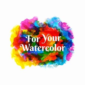 Fond multicolore avec des taches d'aquarelle