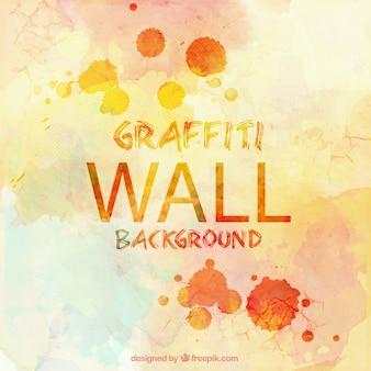 Fond mur avec des taches de couleurs différentes