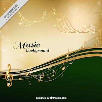 Fond musical élégant