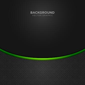 Fond noir avec détails verts