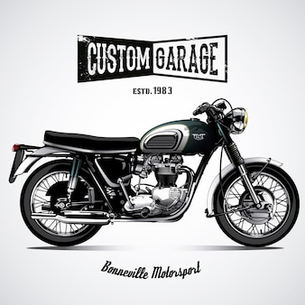 Fond noir de moto
