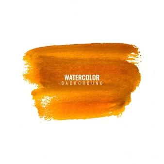 Fond orange tache d'aquarelle
