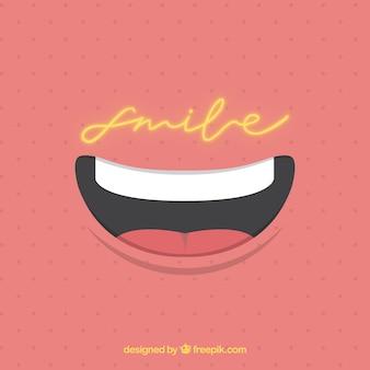 Fond pointillé avec sourire