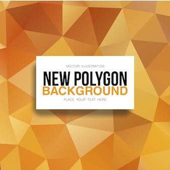 Fond polygonale en or