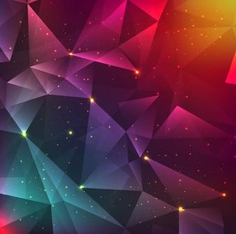 Fond polygonale moderne et coloré
