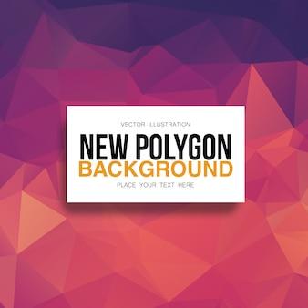 Fond polygonale orange et violet