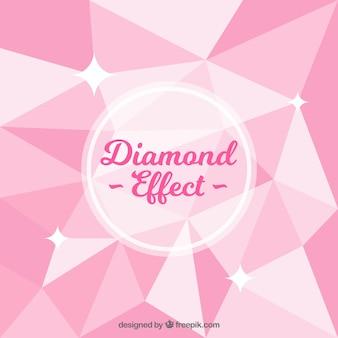Fond rose avec effet de diamant