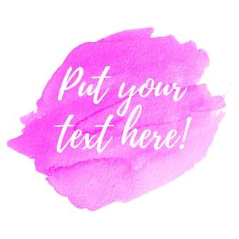 Fond rose avec modèle de texte