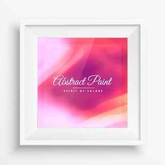 Fond rose de peinture dans le cadre réaliste