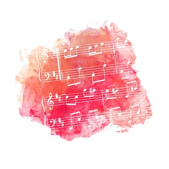 Fond rouge de musique